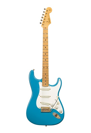 Fender Electric Instrument Company, Stratocaster, Fullerton CA, 1957. A solid-body electric guitar known as the Ex-Homer Hayes
