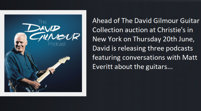 David GIlmour Three Part Blog Listen Now