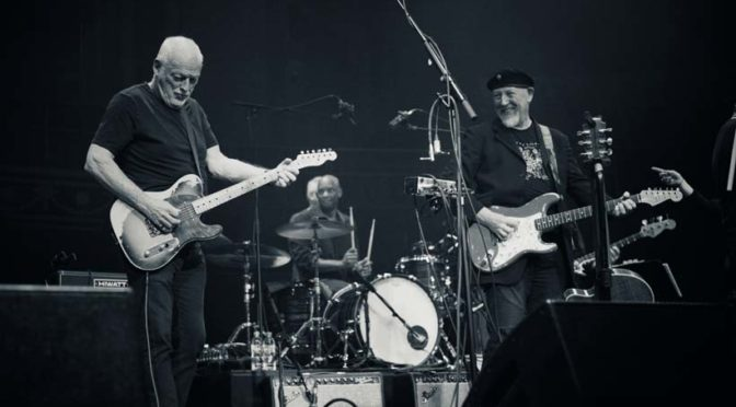 David Gilmour with Richard Thompson at the Royal Albert Hall September 2019