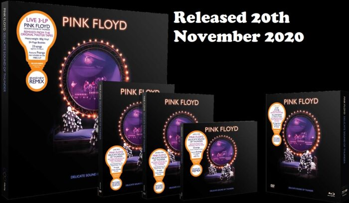 Pink Floyd Delicate Sound of Thunder Bluray DVD header