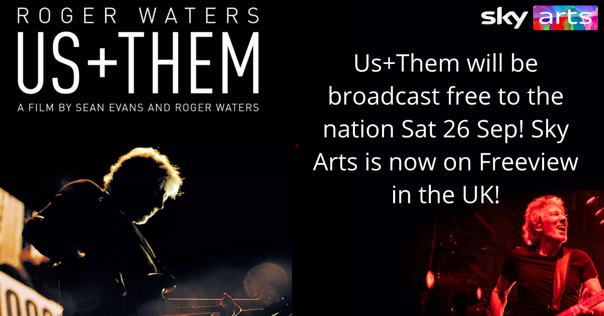 Roger Waters Us + Them Sky Arts