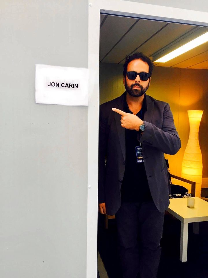 Jon Carin Backstage