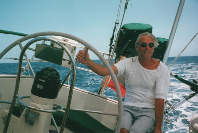 Richard Wright Sailing on his boat, Evrika around 2001-2007