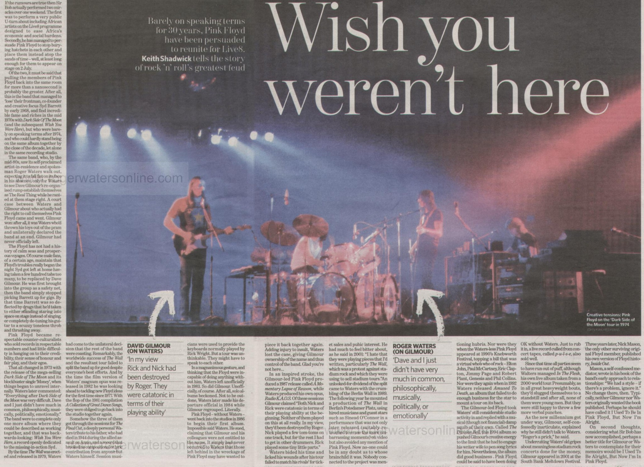 2005-07-02 Pink Floyd Live 8 - Press Clippings