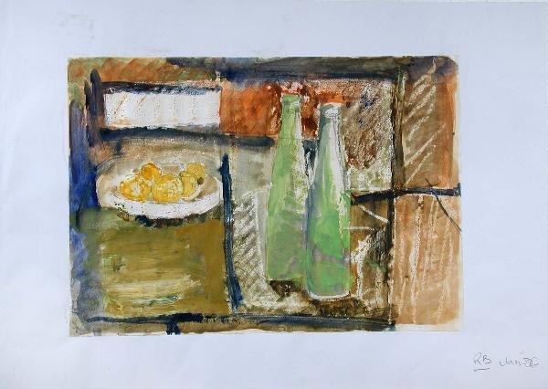 Syd Barrett Art: Still Life With Lemons And Green Bottles, 2006