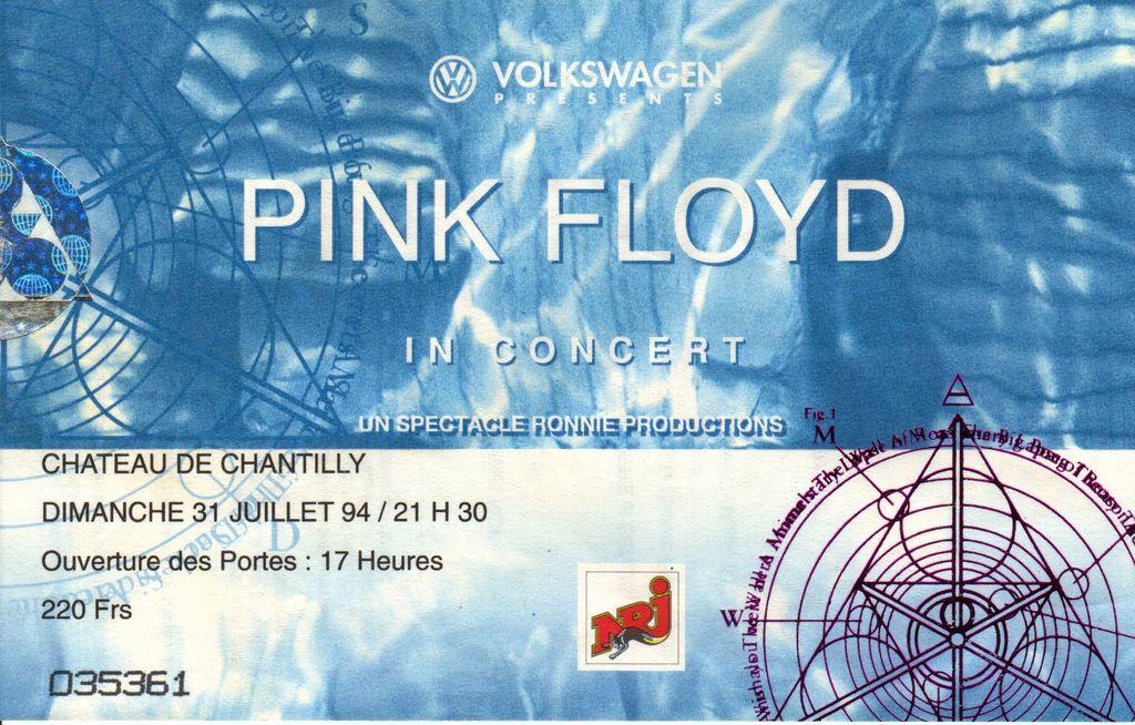 Pink Floyd Ticket Stubs
