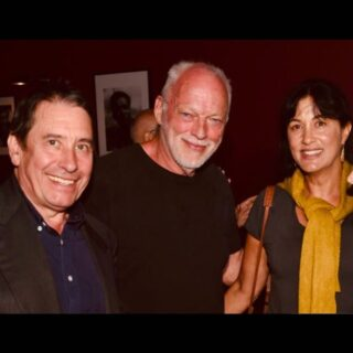 Jools Holland, David Gilmour and Polly Samson