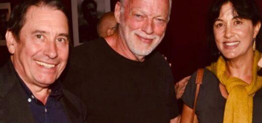 Jools Holland, David Gilmour and Polly Samson