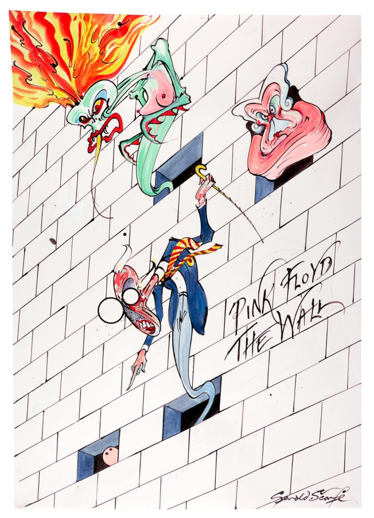 Lot 315 Gerald Scarfe Pink Floyd – The Wall Wife, Mother, Teacher and Pink, ink and watercolour
