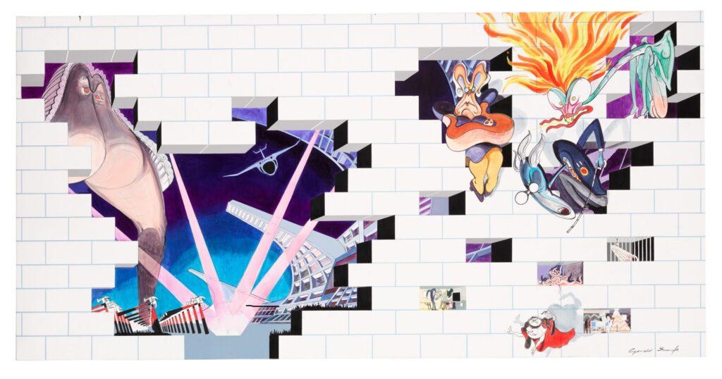 Lot 317 Gerald Scarfe Pink Floyd – The Wall Album Sleeve Design, oil on canvas