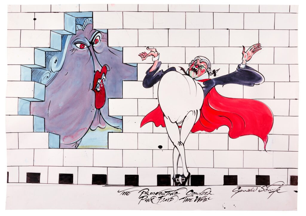 Lot 321 Gerald Scarfe Pink Floyd – The Wall The Prosecuting Counsel, ink and watercolour