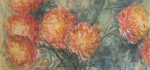 Syd Barrett : Orange Dahlias in a Vase