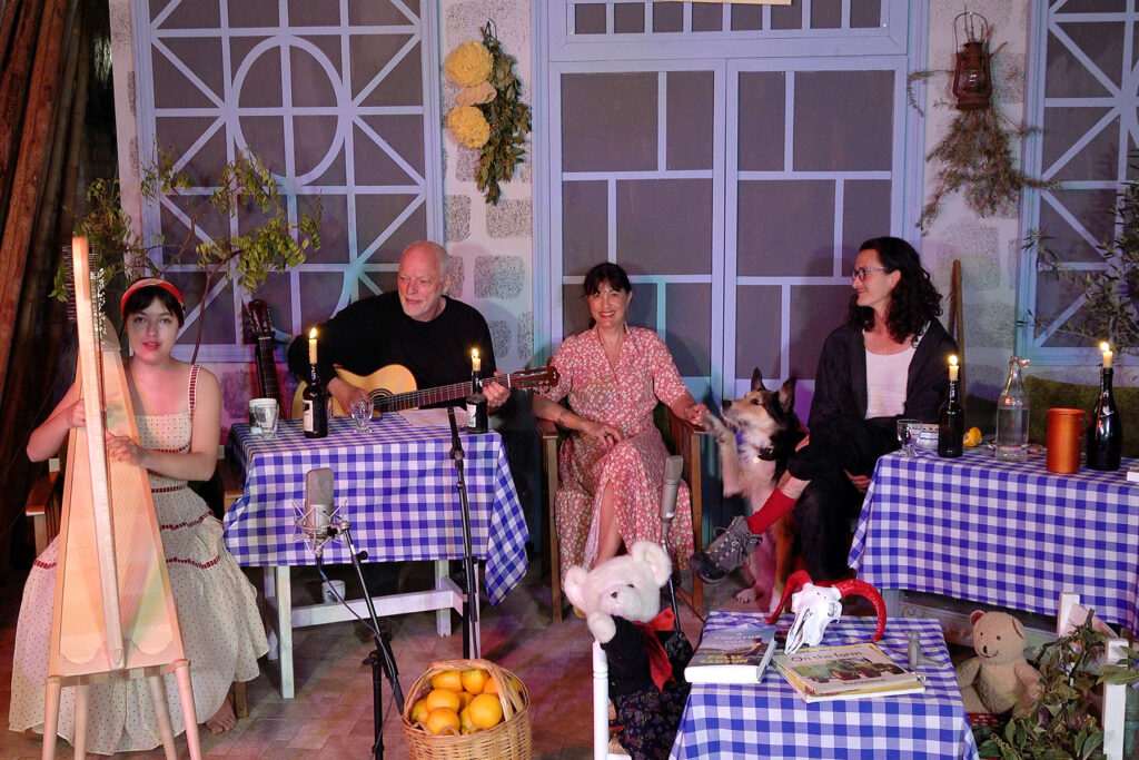 David Gilmour and Polly Samson with family for Von Trapped broadcasts